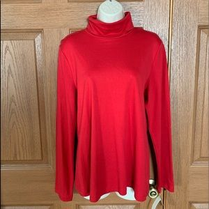 Charter Club Women's Red Turtleneck Top XL NWT